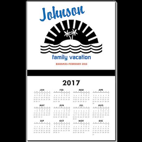 Tropical Family Vacation Calendar Print by GetLostTravelShop