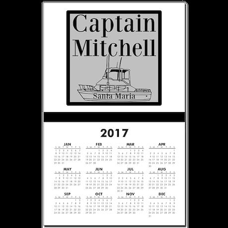 Personalized Captain Calendar Print