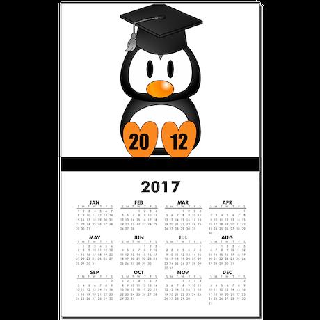 Custom Gradution Penguin Calendar Print
