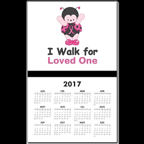 Walk For Ladybug Calendar Print