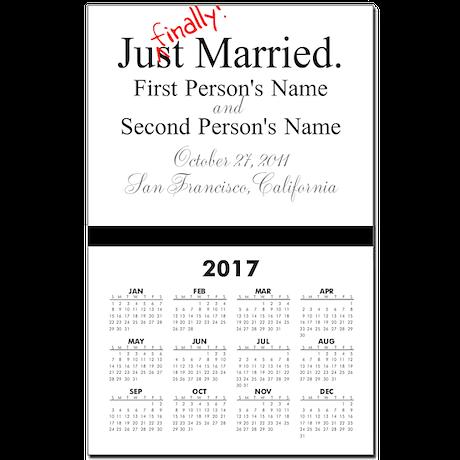 Finally Married Calendar Print