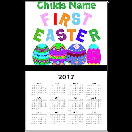 First Easter Calendar Print