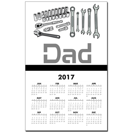 Dad, Tools, Wrenches. Calendar Print