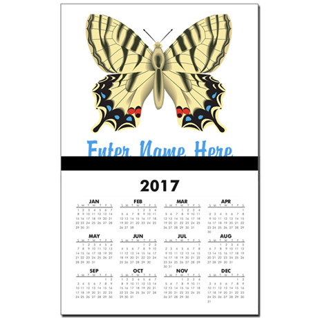 Personalized Butterfly Calendar Print