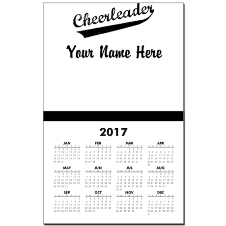 CHEERLEADER Calendar Print