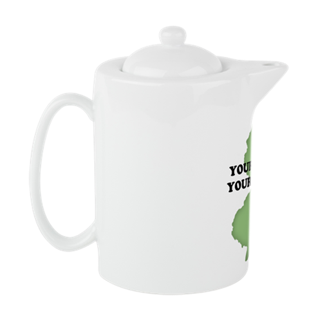 NJ YOUR TEXT Teapot