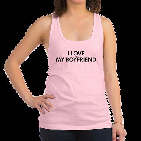 Personalized LOVE MY BOYFRIEND Racerback Tank Top