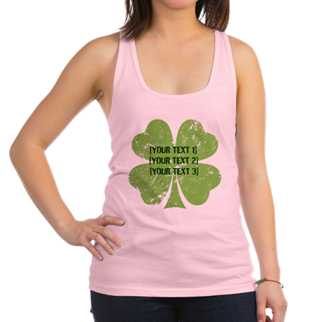 [Your text] St. Patrick's Day Racerback Tank Top