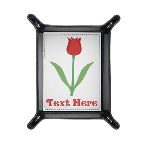 Dark Red Tulip and Text. Travel Valet