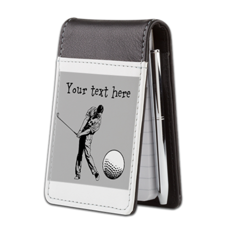 Customizable Golfer and Golf Ball Small Leather No