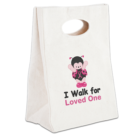Walk For Ladybug Canvas Lunch Tote