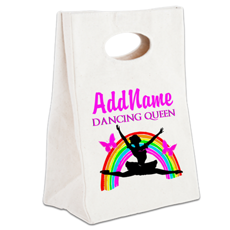 BORN TO DANCE Canvas Lunch Tote