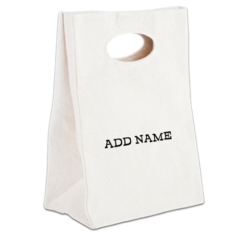 ADD NAME caps Canvas Lunch Tote