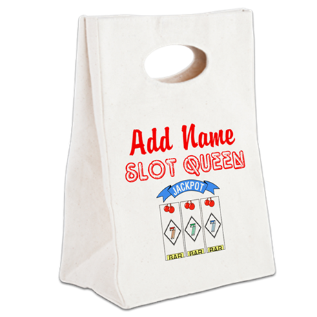SLOT QUEEN Canvas Lunch Tote