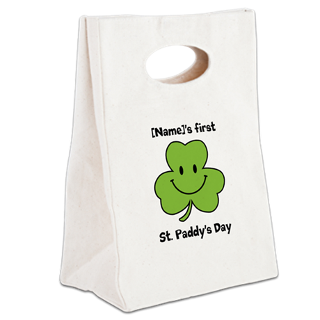 Personalize St. Paddy's Day Canvas Lunch Tote