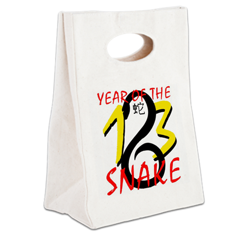 Year of the Snake 2013 Canvas Lunch Tote