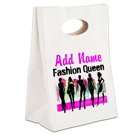 FASHION QUEEN Canvas Lunch Tote
