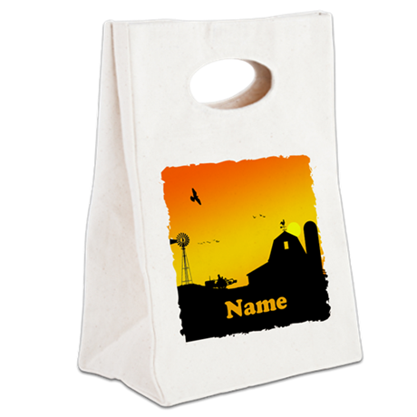 Sunrise at the Farm Canvas Lunch Tote