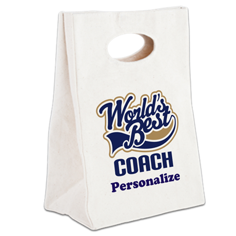 Personalized Coach Canvas Lunch Tote