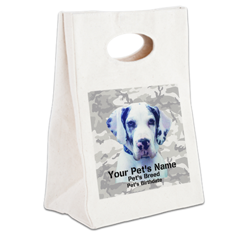 Personalize Pet Gifts! Canvas Lunch Tote
