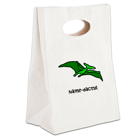 Name your own Pterodactyl! Canvas Lunch Tote