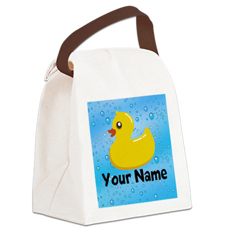 Personalized Rubber Ducky Canvas Lunch Bag