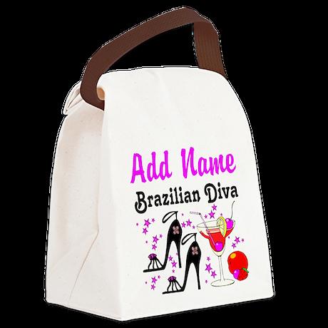 BRAZILIAN DIVA Canvas Lunch Bag