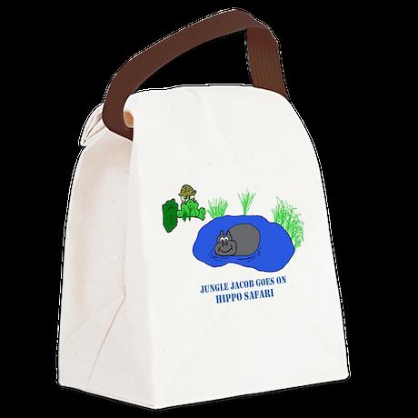 Hippo Safari Canvas Lunch Bag