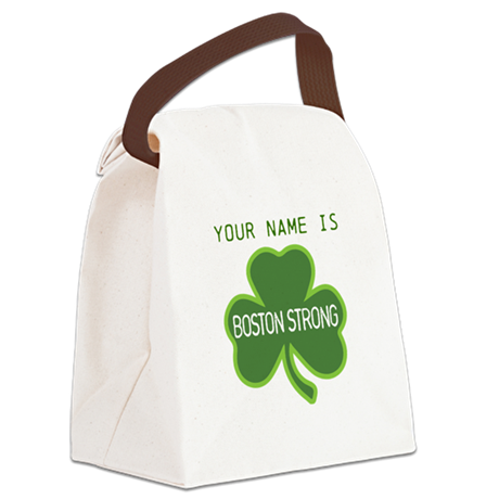 Boston Strong Shamrock Lt - Personalized! Canvas L