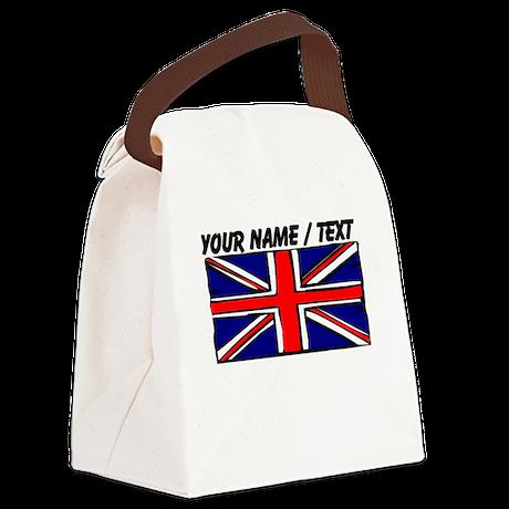 Custom United Kingdom Flag Canvas Lunch Bag