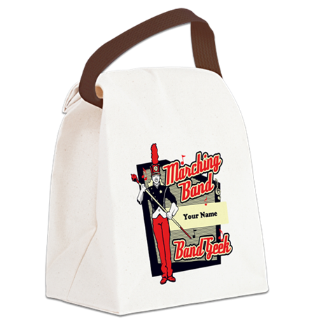 Marching Band Geek (Red) Canvas Lunch Bag