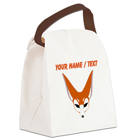 Custom Red Fox Canvas Lunch Bag