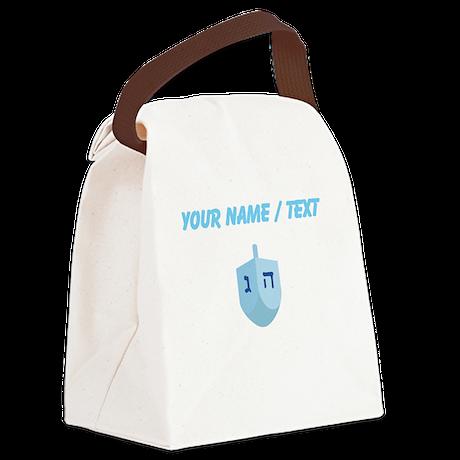 Custom Blue Dradle Canvas Lunch Bag