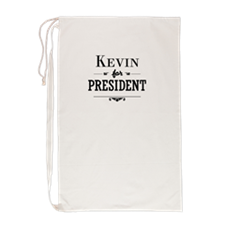 Cute Kevin for president Laundry Bag