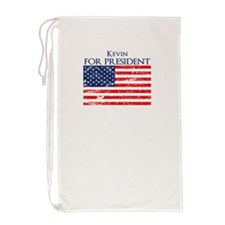Unique Kevin for president Laundry Bag