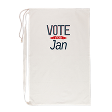 Cute Vote for jan Laundry Bag