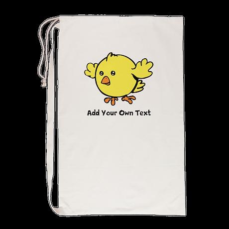 Cute Chick. Black Text Laundry Bag