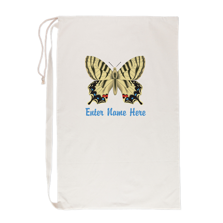 Personalized Butterfly Laundry Bag