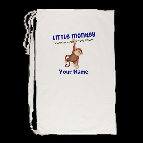 Monkey Boy Kids Personalized Laundry Bag