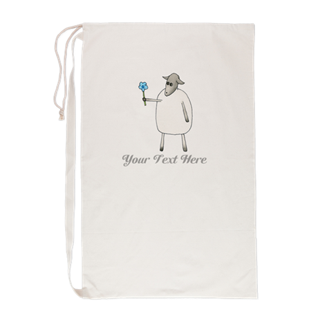 Sheep and Custom Text. Laundry Bag