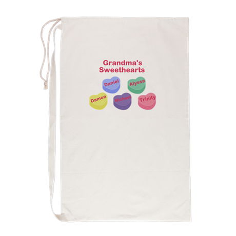 Custom Grand kids sweethearts Laundry Bag