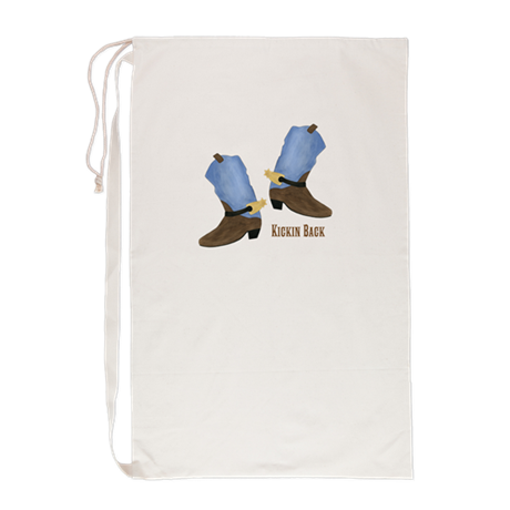 Personalized Cowboy Boots Laundry Bag