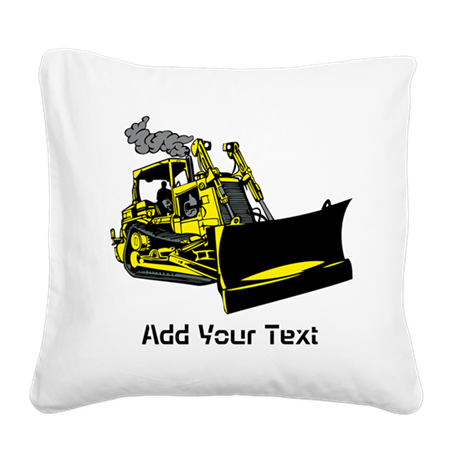 Site Vehicle and Text. Square Canvas Pillow