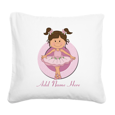 personalizedballet Square Canvas Pillow