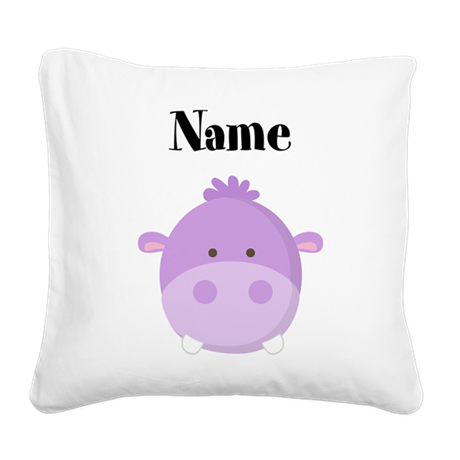 Personalized Hippo Pillow