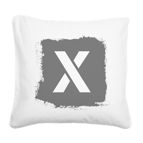 Initial Letter X. Square Canvas Pillow
