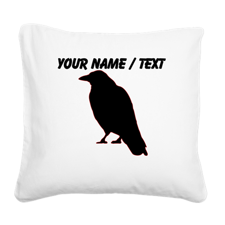 Custom Crow Silhouette Square Canvas Pillow
