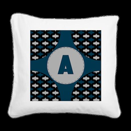 Circles Square Canvas Pillow