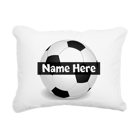 Personalized Soccer Ball Rectangular Canvas Pillow