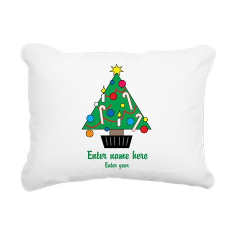 Personalized Christmas Tree Rectangular Canvas Pil